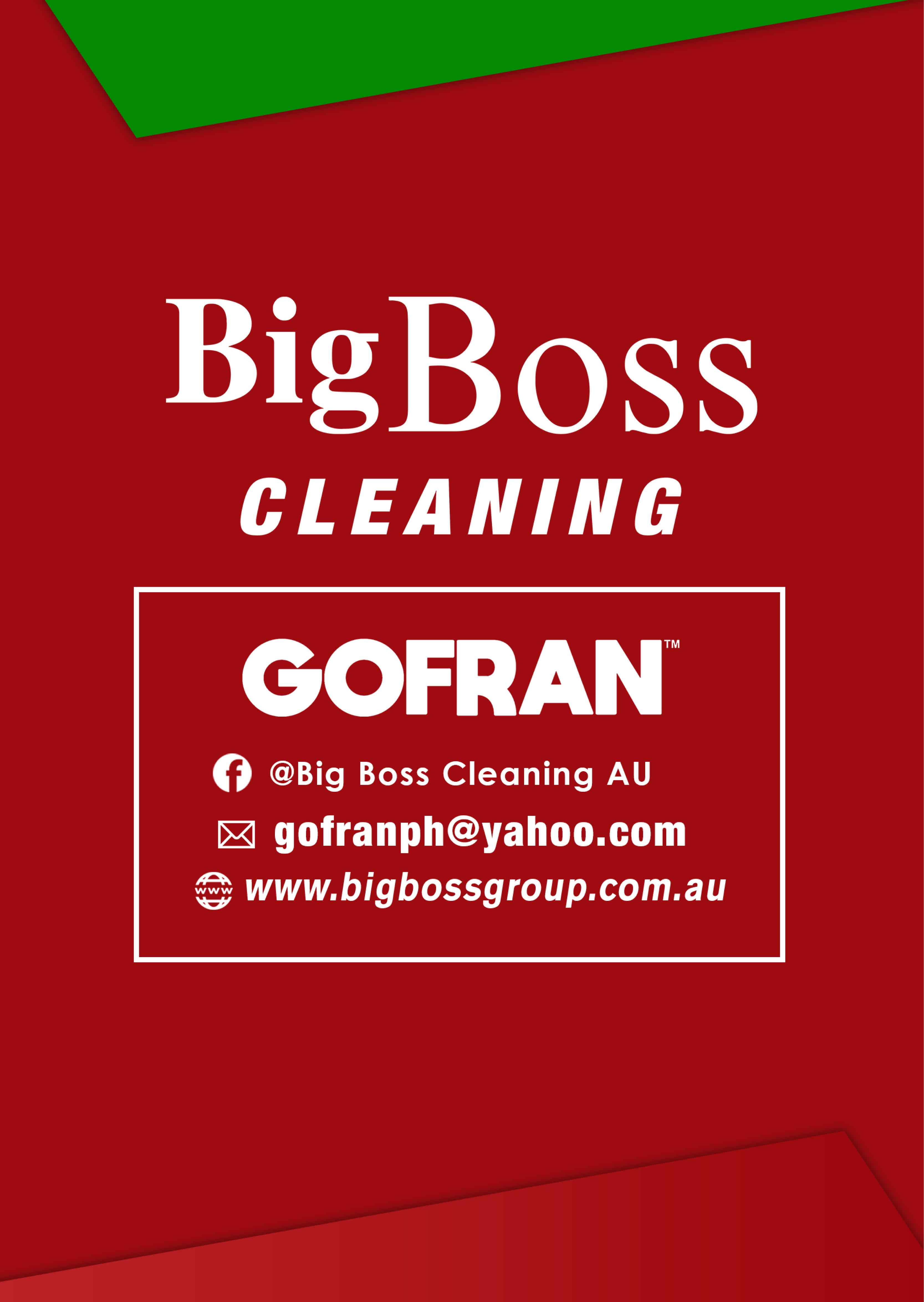 big boss cleaning - contact